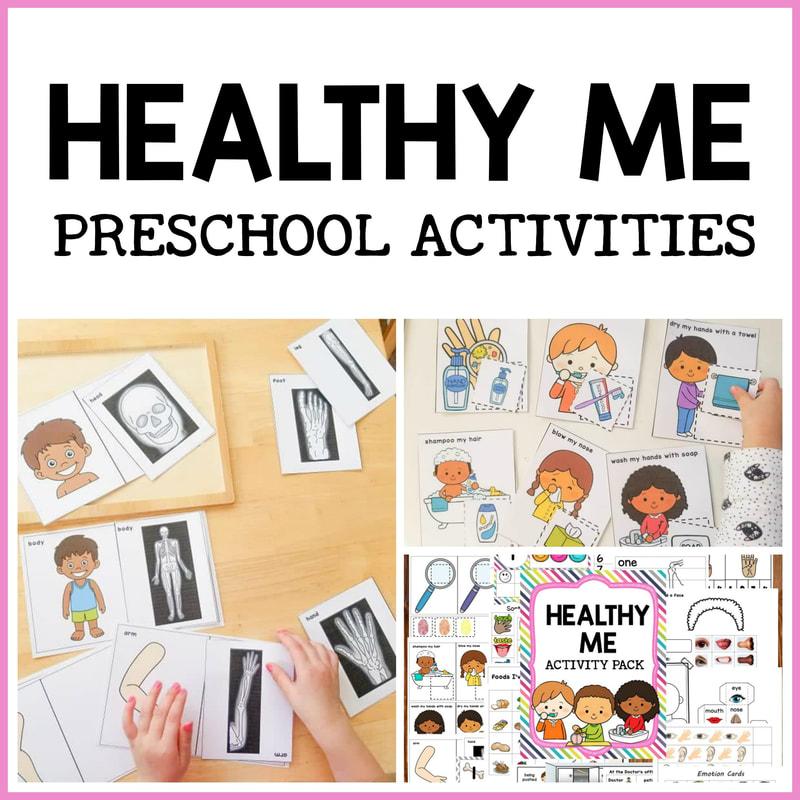 Healthy Me Activity Pack - Pre-K Printable Fun